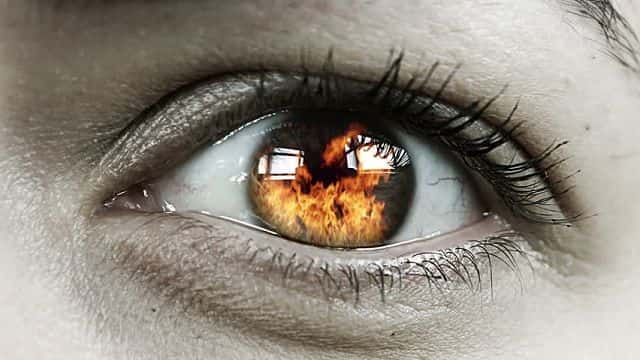 eye heat exposure min